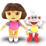 2pcs Dora The Explorer Boots Swiper Cartoon Plush Soft Stuffed Doll Children Toy Kids Birthday Gift