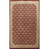 Geometric Red Aubusson Chinese Area Rug Wool Handmade Living Room Carpet 10x14 (9' 9'' x 13' 11'')