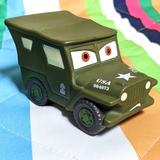 Disney Toys | Disneys Sarge From Cars Military Jeep Rubber Car | Color: Black/Green | Size: Os