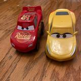 Disney Toys | Disney Lightning Mcqueen Cruz Ramirez Rev 'N Race | Color: Red/Yellow | Size: Osb