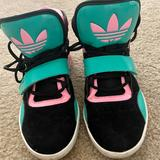 Adidas Shoes | Adidas Originals Women Roundhouse High Basketball | Color: Black/Pink | Size: 6.5