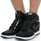 Nike Shoes   Nike Force Sky High Top Hidden Wedge Sneakers   Color: Black   Size: 8