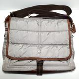 Coach Bags   Coach Nylon Quilted Map Bag Messenger Crossbody   Color: Gray   Size: 13 X 11 X 3