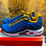 Nike Shoes | Air Max Plus | Color: Blue/Yellow | Size: Big Boy 7 Womens 9