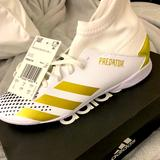 Adidas Shoes   Adidas Predator 20.3 J Kids Indoor Soccer Shoes   Color: White   Size: 2bb