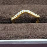 Giani Bernini Jewelry | Nib 18k Gold & Sterling Silver Cz Wave Ring Size 8 | Color: Gold/White | Size: 8