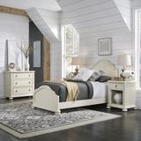 Provence White Twin Bed, Night Stand & Chest by Homestyles in White