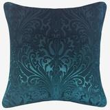 Embossed Panne Velvet Decorative Pillow by Levinsohn Textiles in Teal