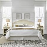 Provence White Kng Hdbrd & 2 Night Stand by Homestyles in White