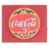 """American Art Decor Vintage Coca Cola Soda Metal Backlit LED Sign – 15"""" X 18"""" in Brown/Red, Size 15.0 H x 18.0 W x 2.0 D in   Wayfair 309740WEB"""