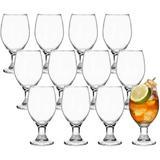MingshanAncient Goblet Party Glasses, 13-Ounce Classic Beverage Glass Juice Glasses Glass, Size 6.5 H x 2.2 W in   Wayfair L2CM1235B087RGND58