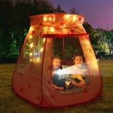 Ourr Indoor/Outdoor Princess Pop-Up Tent For Kids- Without Balls & Lights in Pink, Size 35.5 H x 47.0 W x 47.0 D in | Wayfair SJ-XZP-FEN_LT_A
