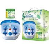 Pursonic Foot Spa Massager w/ Vibrating Bubbles & Tea Tree Oil Foot Salt Scrub w/ Epsom Salt 10oz Gift Set in Blue/Green | Wayfair HMG750