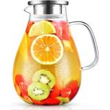 MingshanAncient Glass Pitcher, 80Oz Water Pitcher w/ Lid, Large Glass Pitcher w/ Lid & Spout For Hot&Cold Beverage, Juice, Size 8.3 H in   Wayfair