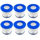 Poseca 6 Pcs Per Pack Swimming Pool Filter Suitable For P57100102 Swimming Pool Water Pump Filter Element in Green, Size 8.0 H x 8.0 W x 4.0 D in