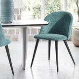 Everly Quinn Modern Velvet Upholstered Arm Chair/Dinning Chair For Dining Room, Living Room, Set Of 2 Wood/Upholstered/Velvet in Green | Wayfair