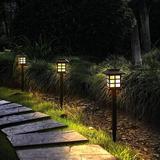 ZWISSLIV 12 Pack Solar Pathway Lights Outdoor, Waterproof Solar Garden Lights, Solar Walkway Lights For Garden, Patio, Yard, Landscape, Pathway
