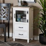 August Grove® Rozalie 1 - Door Accent Cabinet Wood in Brown/White, Size 35.0 H x 18.9 W x 13.8 D in   Wayfair 21CF5FF83E87445E92F337793BF5DE4B