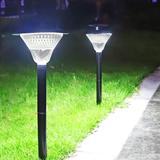 ZWISSLIV Solar Pathway Lights,Dusk To Dawn Outdoor Solar Powered 39 LED Walkway Path Lights, 3X Brightness 80Lumen Security Lights For Garden