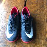 Nike Shoes | Nike Mercurial Youth Indoor Soccer Shoes | Color: Black/Red | Size: 3b