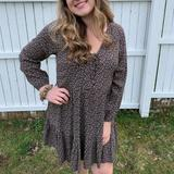 American Eagle Outfitters Dresses | Ae Babydoll Dress | Color: Black/Cream | Size: M