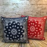 Levi's Bedding   Levi'S X Target Limited Edition Set Of Two Pillows   Color: Blue/Red   Size: 18 X 18