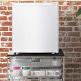 Living Essentials 1.1 Cubic Feet cu. ft. Freestanding Mini Fridge Plastic in White, Size 19.25 H x 17.52 W x 18.62 D in | Wayfair AFMWH0117
