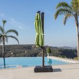 Sol 72 Outdoor™ Ceylon 10' Cantilever Sunbrella Umbrella in Green, Size 105.0 H x 120.0 W x 120.0 D in   Wayfair CB44FE97AC744145B7F0BC13E82A7AC4