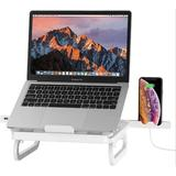 wisdomfurnitureco Laptop Stands Adjustable Laptop Stand Laptop Holder w/ Docking Station in White, Size 10.6 H x 11.46 W x 11.3 D in   Wayfair
