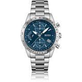 Link-bracelet Chronograph Watch With Luminescent Hands - Metallic - BOSS by Hugo Boss Watches
