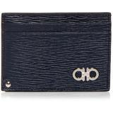 Revival Leather Id Window Card Case - Blue - Ferragamo Wallets