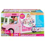 Barbie 3-in-1 DreamCamper Vehicle and Accessories, Multicolor