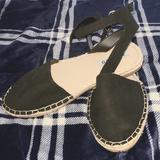 Torrid Shoes | Black Ankle Strap Espadrille Flats | Color: Black/Cream | Size: Various