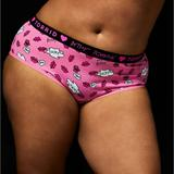 Torrid Intimates & Sleepwear | Betsy Johnson Pink Lips Cotton Cheeky Panty 1x | Color: Black/Pink | Size: 1x