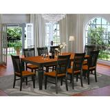Darby Home Co Beesley Butterfly Leaf Rubberwood Solid Wood Dining Set Wood in Black, Size 30.0 H in   Wayfair DABY5561 43981848