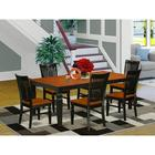 Darby Home Co Beesley Butterfly Leaf Rubberwood Solid Wood Dining Set Wood in Black, Size 30.0 H in | Wayfair 3EF6DBDE2ABF44A09BC7C6EF92BB21C0