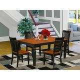 Darby Home Co Beesley Butterfly Leaf Rubberwood Solid Wood Dining Set Wood in Black, Size 30.0 H in   Wayfair 8C0D2C097C604715A53766519B202A02