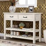 Red Barrel Studio® Console Table For Entryway w/ Drawers & Shelf Living Room Furniture (Antique Blue) Wood in White | Wayfair