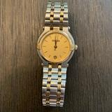 Gucci Accessories | Gucci Ladies 9000 L Silver Gold Tone Date Watch | Color: Gold/Silver | Size: Os