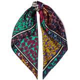 Jella Printed Silk-twill Scarf - Blue - Diane von Furstenberg Scarves