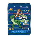 Disney Bed Blankets - Toy Story 4 Blue & Green Toys at Play Blanket