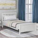 Red Barrel Studio® Cinda Twin Platform Bed Wood in White, Size 43.0 W x 79.75 D in | Wayfair 852AA215F45F4625951DA6820A4AF0E0