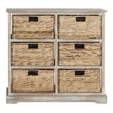 Beachcrest Home™ Santa Cruz Solid Wood 6 - Drawer Accent Chest Wood in White, Size 29.5 H x 32.1 W x 13.4 D in   Wayfair BCMH3247 43208267
