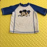 Disney Swim | Disney Baby Boy Mickey Mouse Rash Guards | Color: Blue/White | Size: 2m