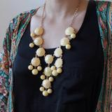 J. Crew Jewelry   Light Yellow Gold Tone Bubble Necklace   Color: Gold/Yellow   Size: 24
