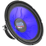 Car Vehicle Subwoofer Audio Speaker - 10 Inch Blue Injection Molded Cone, Blue Chrome-Plated Steel Basket, Dual Voice Coil 4 Ohm Impedance, 1000W Power, for Vehicle Stereo Sound System - Pyle PL1090BL
