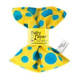 Yellow W/Blue Dots Baby Paper - YELLOW W-BLUE DOTS