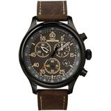Men?s Expedition Field Chrono 43mm Watch With Pay - Brown - Timex Watches