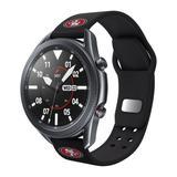 """Black San Francisco 49ers 20mm Samsung Compatible Watch Band"""