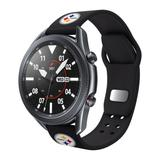 """""""Black Pittsburgh Steelers 22mm Samsung Compatible Watch Band"""""""